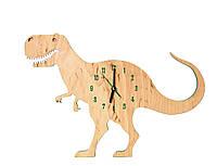 """Детские деревянные часы дизайнерские интерьер """"Динозавр"""" HandMade Ручная Работа ТМ Просто и Легко 40х28х3 см"""