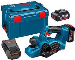 Рубанок акумуляторний Bosch GHO 18 V-LI + з/у AL 1880 CV + 2 x акб GBA 18V 5 Ah + валіза L-boxx (06015A0303)