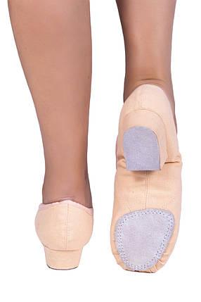 Балетки на каблуке тканевые Dance 1104/1 Бежевый, фото 2