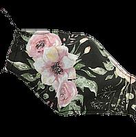 """Детская защитная маска для лица Солодкий Сон, хлопковая, двухслойная """"Звезды"""" Черный S, фото 1"""