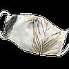 """Детская защитная маска для лица Солодкий Сон, хлопковая, двухслойная """"Перья"""" Бежевый S"""