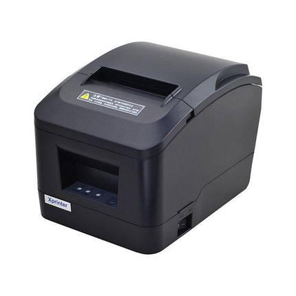 POS-принтер Xprinter XP-A160M USB чековый термопринтер 80мм с автообрезкой, фото 2