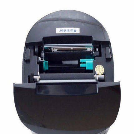 Принтер этикеток и чеков 2 в 1 Xprinter XP-237B черный термопринтер наклеек, фото 2