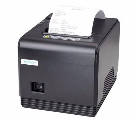 POS-принтер Xprinter XP-Q200 LAN чековый термопринтер 80мм с автообрезкой, фото 2