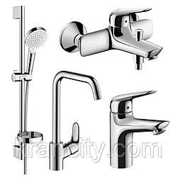 Набір змішувачів для ванни і кухні одноважільний HANSGROHE NOVUS