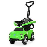 Детский электромобиль толокар с ручкой BAMBI M 4290-5 зеленый