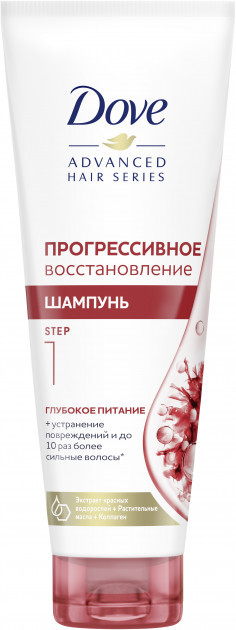 Шампунь Dove Hair Therapy (250мл.) в асортименті