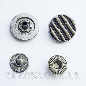 Кнопка ТАБЛЕТКА - 17мм Блэк никель 720шт. Нержавейка (ИР-0066)