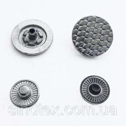 Кнопка ТАБЛЕТКА - 17мм Блэк никель 720шт. Нержавейка (ИР-0074), фото 2