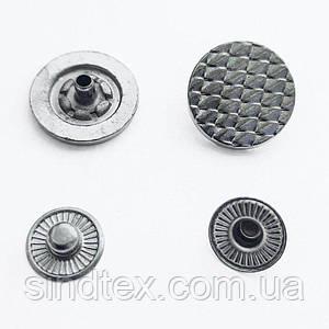 Кнопка ТАБЛЕТКА - 17мм Блэк никель 720шт. Нержавейка (ИР-0074)