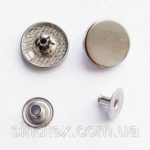 Кнопка ТАБЛЕТКА - 17мм Никель 720шт. Нержавейка (ИР-0076)