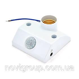 Інфрачервоний датчик руху, макс. навантаження 100W E27, White