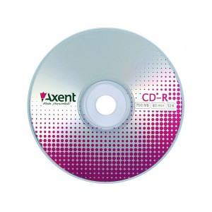 Диски Axent CD-R 700MB / 80 min 52х 100 шт