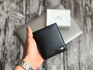Мужской черный бумажник из натуральной кожи