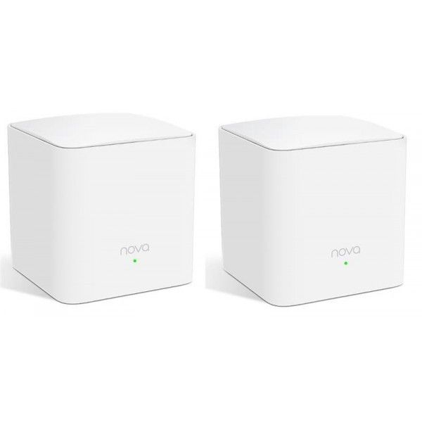 WiFi Mesh система Tenda Nova MW5s (MW5S-KIT-2) (AC1200, 1xGE WAN/LAN, 1xGE LAN, Beamforming, MESH, MU-MIMO, 2