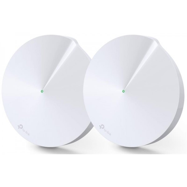 WiFi Mesh система TP-Link Deco M5 2-pack (AC1300, 2xGE LAN/WAN, Bluetooth, MESH, MU-MIMO, 4 антенны, 2-pack)