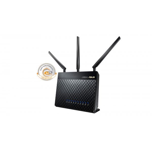 Беспроводной маршрутизатор Asus RT-AC68U (AC1750, 1*Wan, 4*LAN Gigabit, 1*USB3.0, 1*USB2.0, 3 антенны)