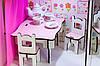 Домики для маленьких кукол Домик «Солнечная Дача» + мебель + текстиль + ДВОРИК + ФЕРМА высота этажа - 20 см, фото 5