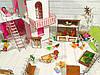 Домики для маленьких кукол Домик «Солнечная Дача» + мебель + текстиль + ДВОРИК + ФЕРМА высота этажа - 20 см, фото 8