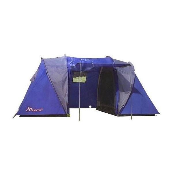 Палатка туристическая LANYU LY-1699 двухкомнатная 4-х местная 450х220х180см