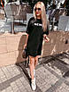 """Молодежное летнее платье футболка оверсайз с принтом """"New"""", стильная одежда на лето, фото 2"""