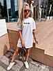 """Молодежное летнее платье футболка оверсайз с принтом """"New"""", стильная одежда на лето, фото 5"""