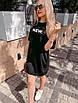 """Молодежное летнее платье футболка оверсайз с принтом """"New"""", стильная одежда на лето, фото 6"""