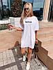 """Молодежное летнее платье футболка оверсайз с принтом """"New"""", стильная одежда на лето, фото 7"""