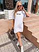 """Молодежное летнее платье футболка оверсайз с принтом """"New"""", стильная одежда на лето, фото 8"""