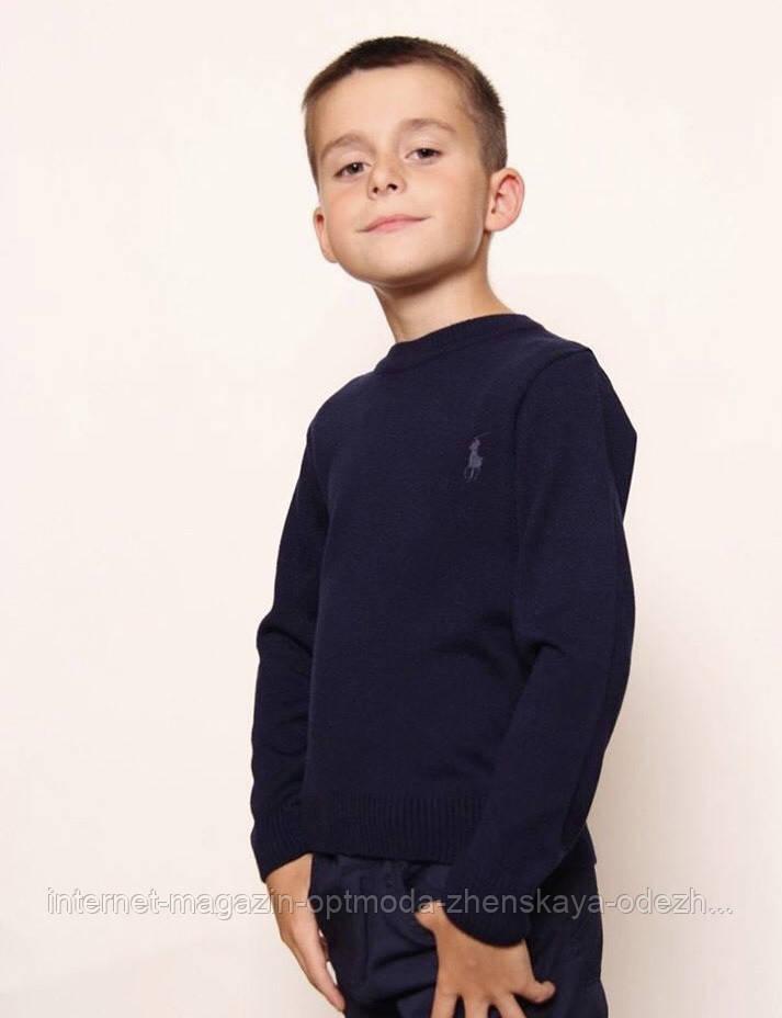 """Стильний легкий светр дитячий для хлопчиків з круглим вирізом """"Поло"""""""