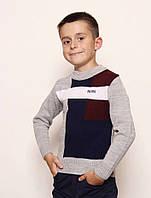 """Стильный модный легкий свитер для подростка мальчика """"Boss"""""""