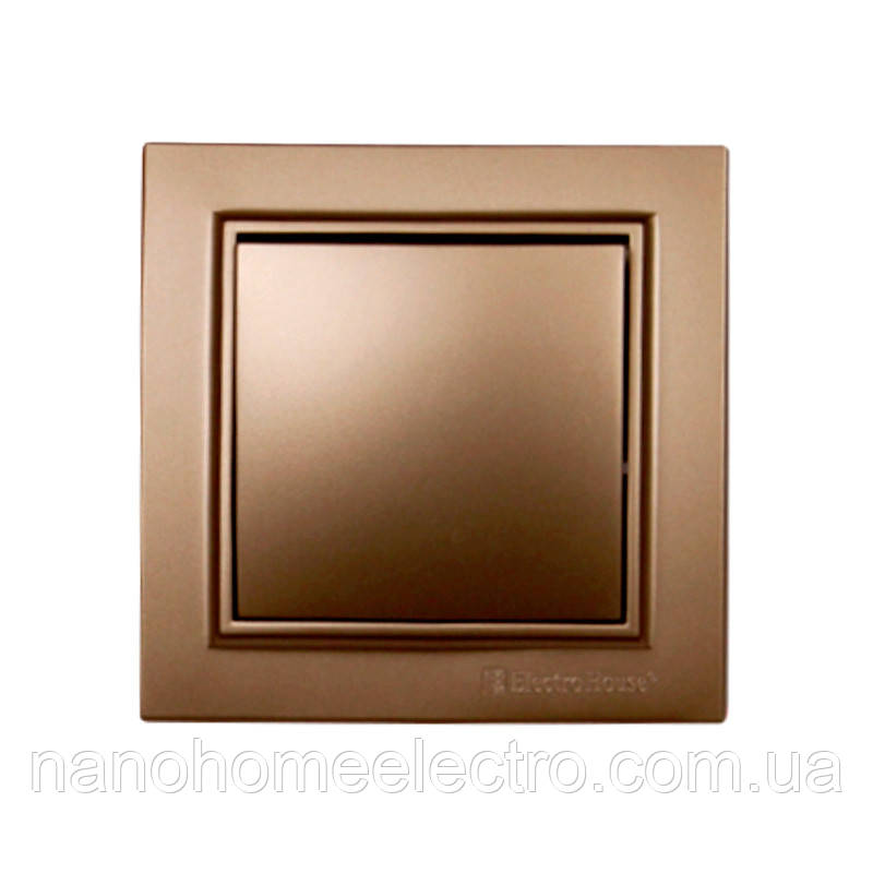 ElectroHouse Вимикач Розкішно золотий Enzo IP22