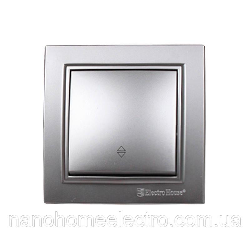 ElectroHouse Вимикач прохідний Среребряный камінь Enzo IP22