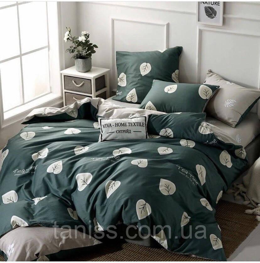"""Полуторный набор постельного белья Бязь """"Gold"""",  расцветка как на фото, листья"""