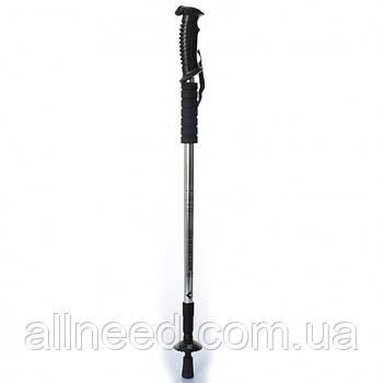 Трекинговые палки для ходьбы MS 2019-1  65-135см, телескоп (3секции) (Серебристый MS 2019-1(Silver))