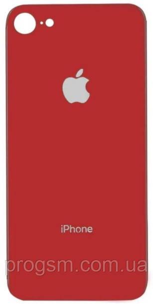 Крышка задняя iPhone 8 Red (большой вырез под камеру)