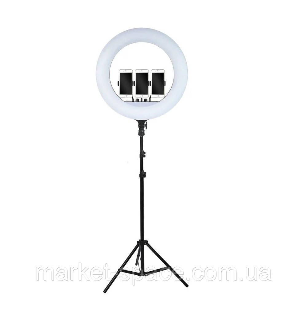 Кольцевая cветодиодная лампа Ring Light ZB-F348 60W (диаметр 45 cм) +пульт ДУ +штатив +сумка