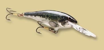 Воблер плавающий Rapala Shad Rap 08 длина 8см вес 11гр