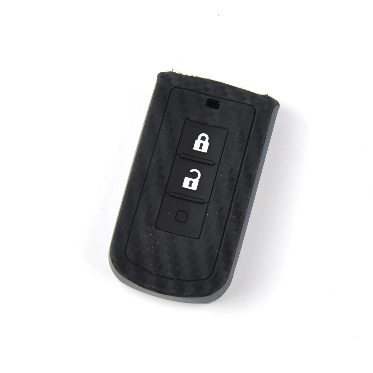 Чехол на пульт сигнализации силиконовый Mitsubishi Carbon 951 (3875)