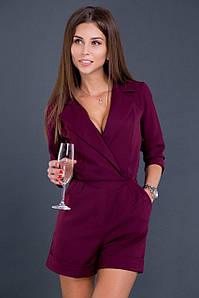 Комбинезон женский (шорты) AniTi 096, бордовый