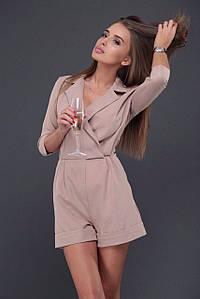 Комбинезон женский (шорты) AniTi 096, бежевый