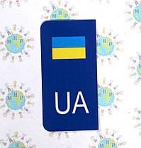 Наклейка на номер автомобиля Евростандарт новый номер