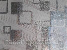 М'яке скло Скатертину з лазерним малюнком Soft Glass 2.4х0.8м товщина 1.5 мм Сріблясті квадрати, фото 3