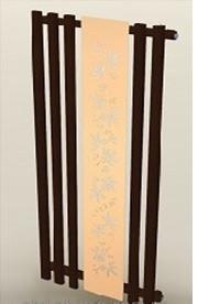 Полотенцесушитель-радиатор Termotek 600х1600 декоративный (коричневый-крем)