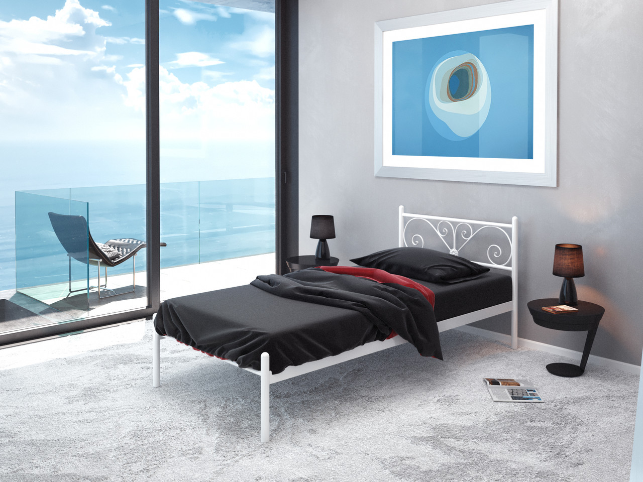 "Металеве ліжко ""Примула"""