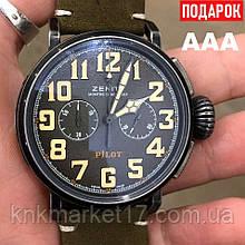 Pilot Montre d Aeronef Chronograph Black-Green