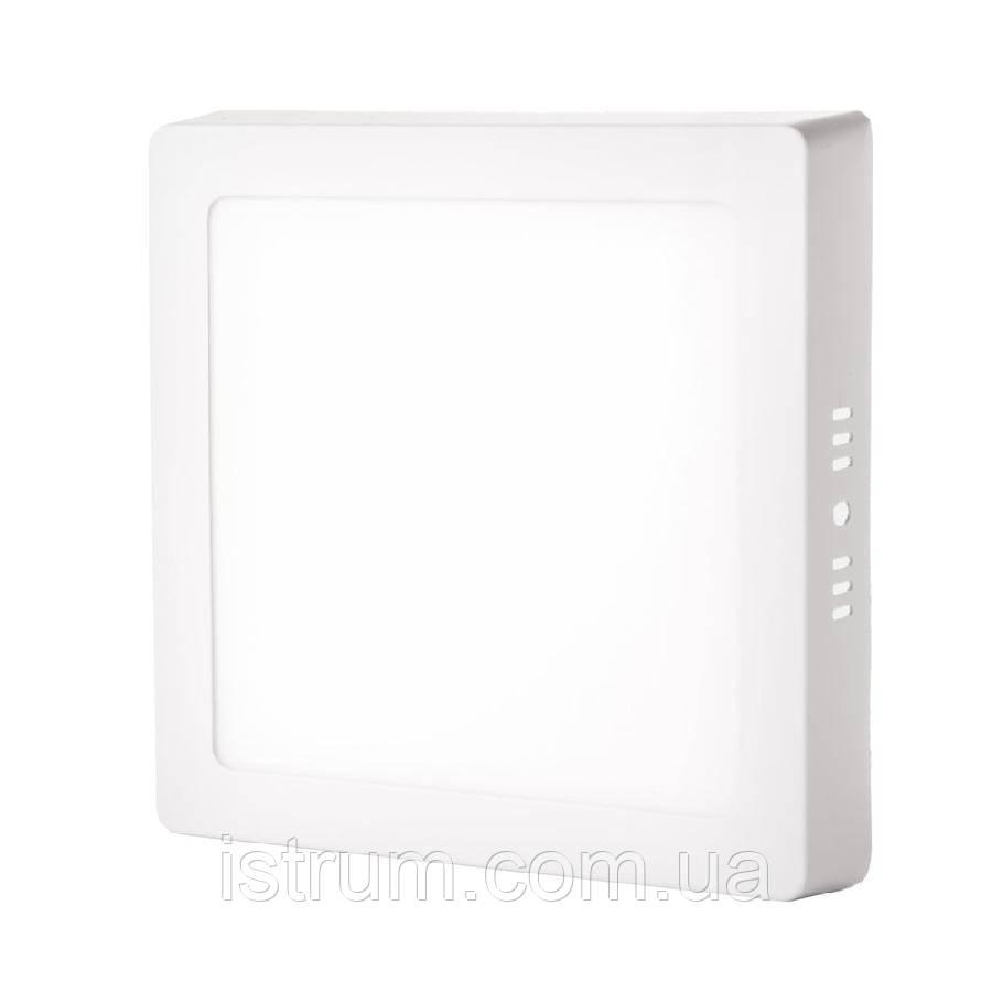 Світильник точковий накладної ЕВРОСВЕТ 12Вт квадрат. LED-SS-170-12 4200К