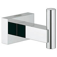 Крючки для полотенец в ванную, от бренда Grohe Essentials Cube модель ( 40511001). С цветом-хромированная