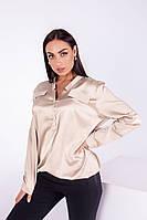 Женская шелковая блузка больших размеров, фото 1