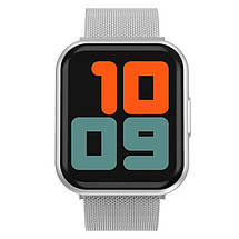 Смарт годинник Smart Watch T88, два браслети, silver, фото 3